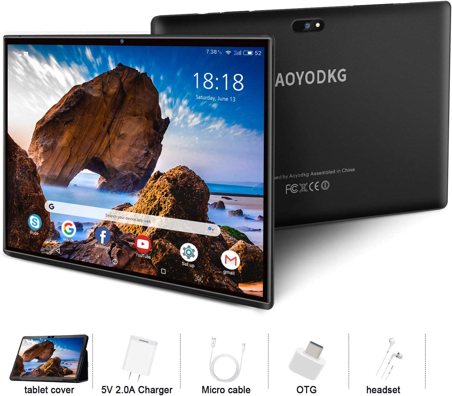 Tablet 10.1 Pulgadas 4G LTE Call ,Android 9.0 Google Certificación GMS Tablets,3Go RAM + 32/128Go ROM ,Quad Core ,8000mAh Batterie,5MP +8MP, WiFi /GPS /OTG/ Bluetooth /Netfilix Tablet PC