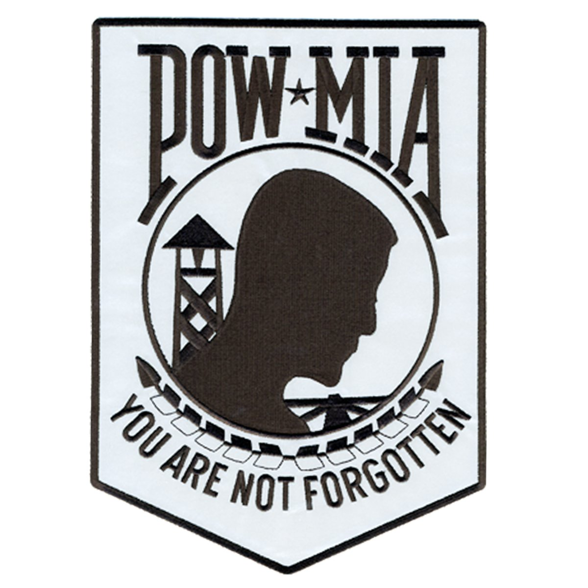 3 Height PPB1020 Hot Leathers Pow Mia Reflective Patch