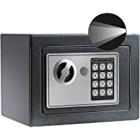 Sdstone Digital Safe with Sensor Lamp,Fireproof Safe Box,Security Home Safe with Keypad, Wall or Cabinet Anchoring…