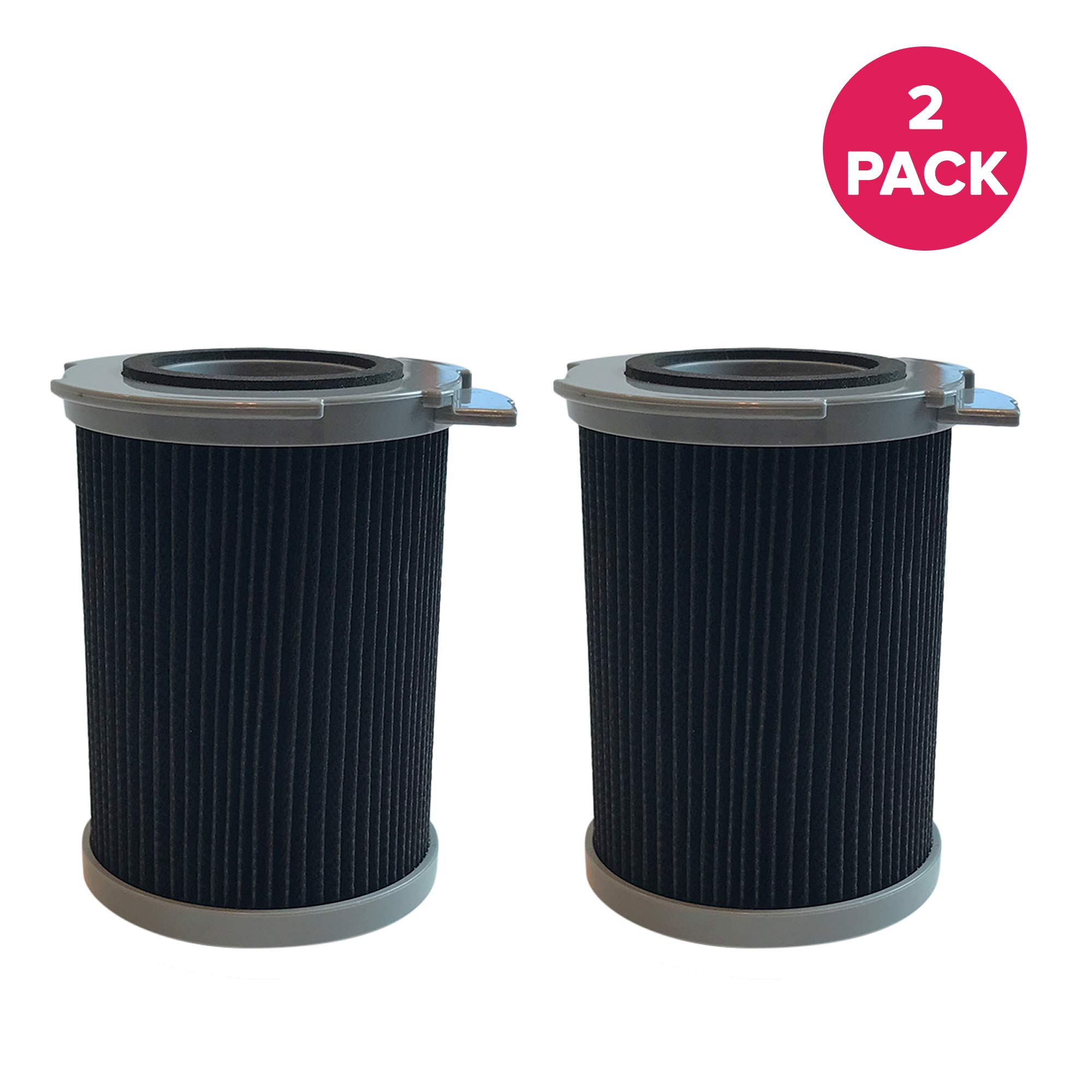 Crucial Vacuum Filter Replacement Parts # 59134033 - Compatible with Hoover Filters - Fits Hoover Windtunnel Bagless Air Filter for Compact Vacs, Vacuums, Vac, Home, Office Use - Washable (2 Pack) by Crucial Vacuum