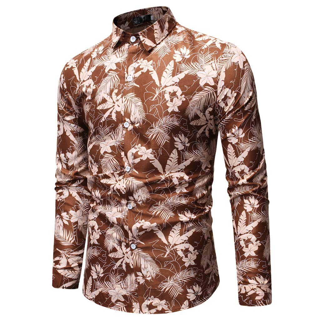 DHGCX Mens Casual Button Down Valentines Day Lovers Printed Shirt Slim Fit Tops Blouse