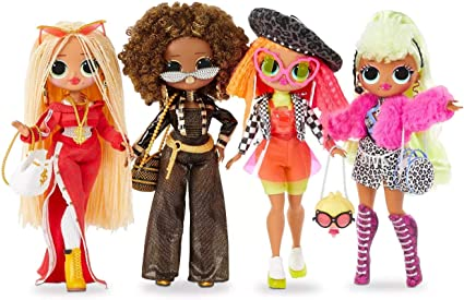 Amazon Com L O L Surprise O M G 4 Pack Complete Collection Of Series 1 Four Fashion Dolls With 80 Surprises Toys Games