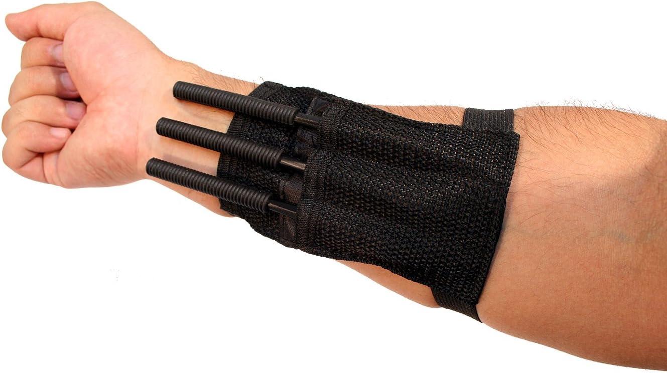 "NEW 3 Pc 6"" Black Throwing Spike Darts Ninja Tactical w/ Wrist Straps Sharp"