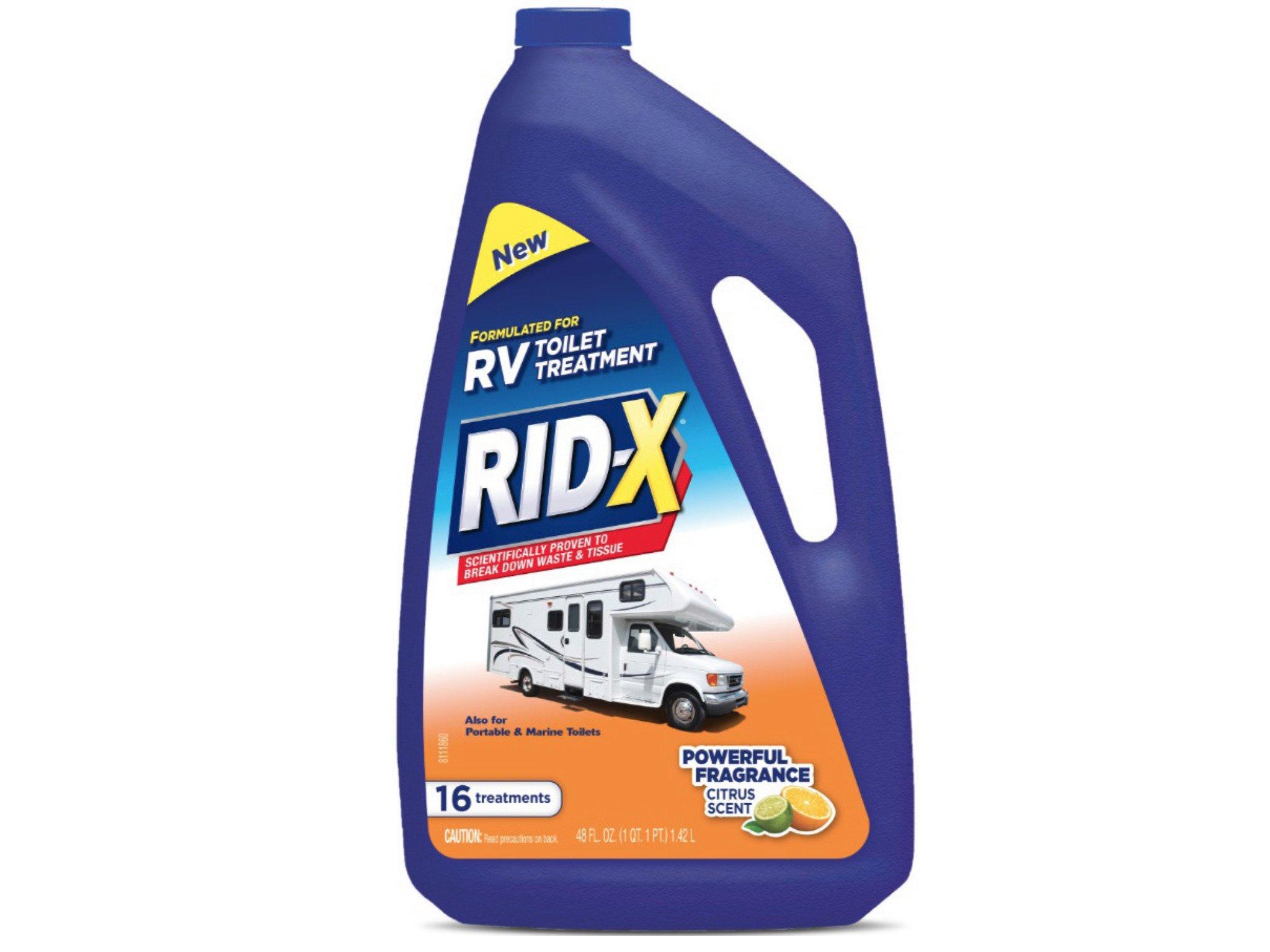 RID-X RV Toilet Treatment Liquid, 16 Treatments, 48 fl oz (Pack of 2)