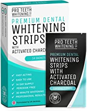 28 tiras Blanqueadoras Dientes Blanqueamiento de dientes | Tiras Blanqueadoras Dientes con Carbón Activo | Teeth Whitening Strips