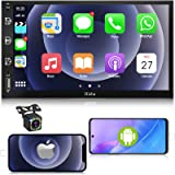Car Stereo Double Din Car Multimedia Player-Apple Carplay and Android Auto, in-Dash Digital Media, 7 Inch Touchscreen…