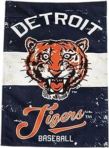 Stockdale Detroit Tigers EG VINTAGE Retro BANNER Premium 2-sided 28x44 House Flag Baseball