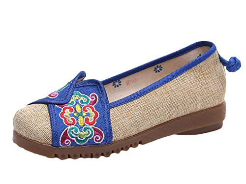 ICEGREY - Zapatillas de algodón para mujer, color azul, talla 38 EU