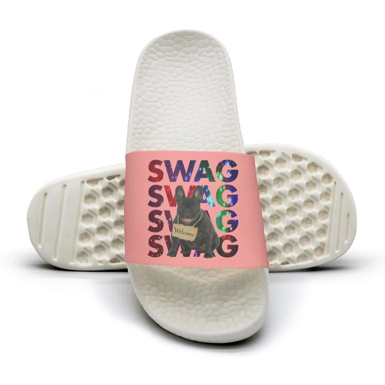 Swag french bulldog black dog Slippers Sandals Slippers for Men