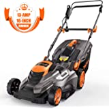 TACKLIFE Electric Lawn Mower, 16 Inch 13Amp Lawn Mower, 5 Cutting Heights, Vertical Storage, Tool-Free Assembly, Quick…