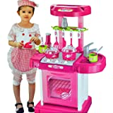 Portable Pink Electronic Children Kids Kitchen Cooking Girl Toy Cooker Play Set by CreativePlaying