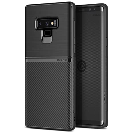 Obliq Galaxy Note 9 Case, [Flex Pro] Slim Dual Design Tpu Case Anti Shock Technology Galaxy Note 9 (2018) (Black) by Obliq Case