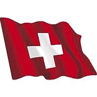Artimagen Pegatina Bandera Ondeante Suiza Mediana 80x60 mm.