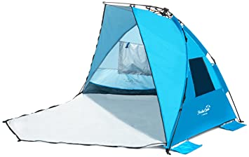 Extra Large Beach Tent With Privacy Door. Quality Beach Shade Sun  sc 1 st  Amazon.com & Amazon.com: NEW ARRIVAL! Extra Large Beach Tent With Privacy Door ...