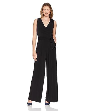 121eb10401f Amazon.com  Eliza J Women s Sleeveless Faux Wrap Jumpsuit  Clothing