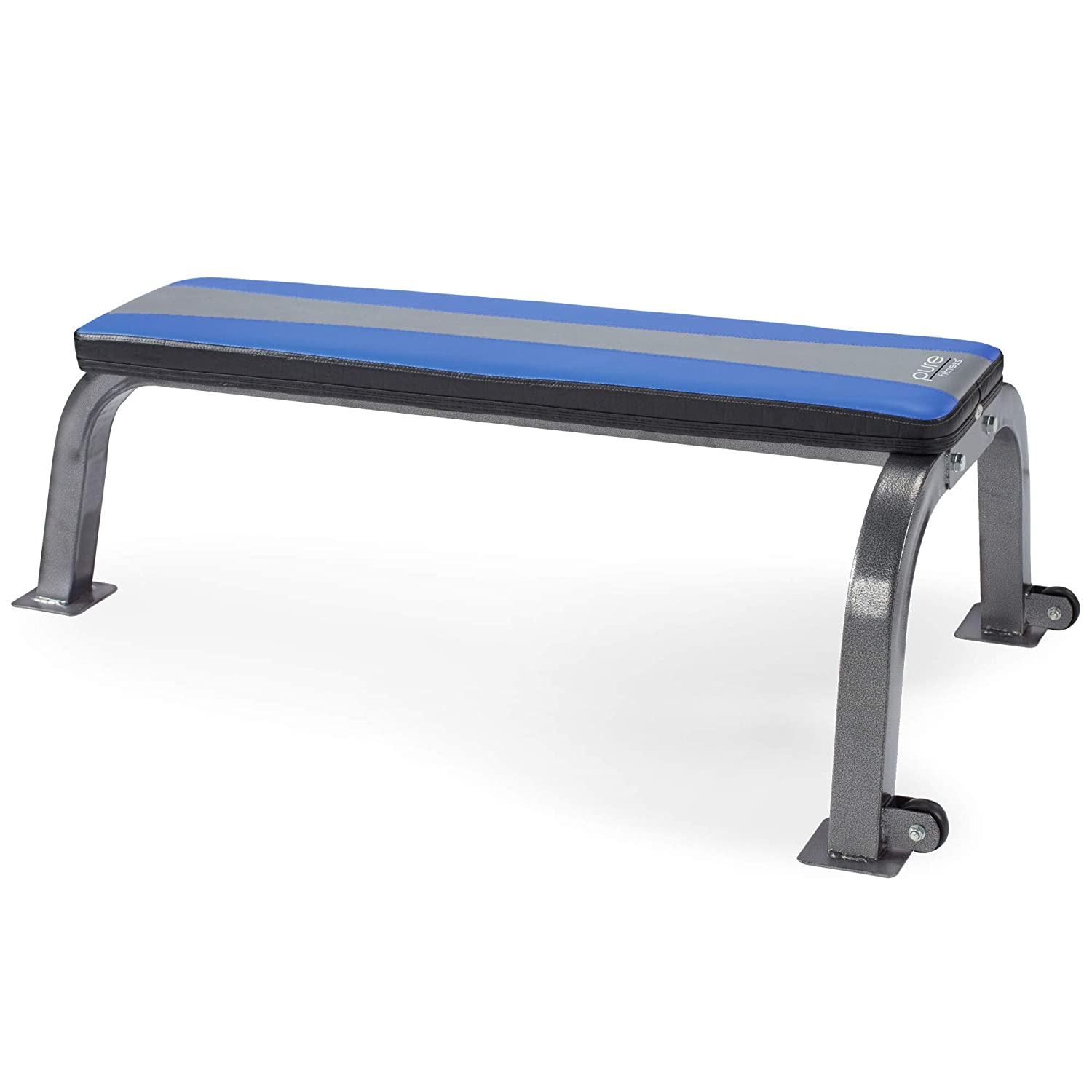Pure Fitness Weight Training/Workout: Flat Utility Bench, Blue/Black 8641FB