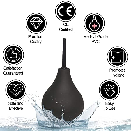 Kit de enemas de uso anal para el estreñimiento, de silicona, para la ducha, Unisex, aprobado por la FDA