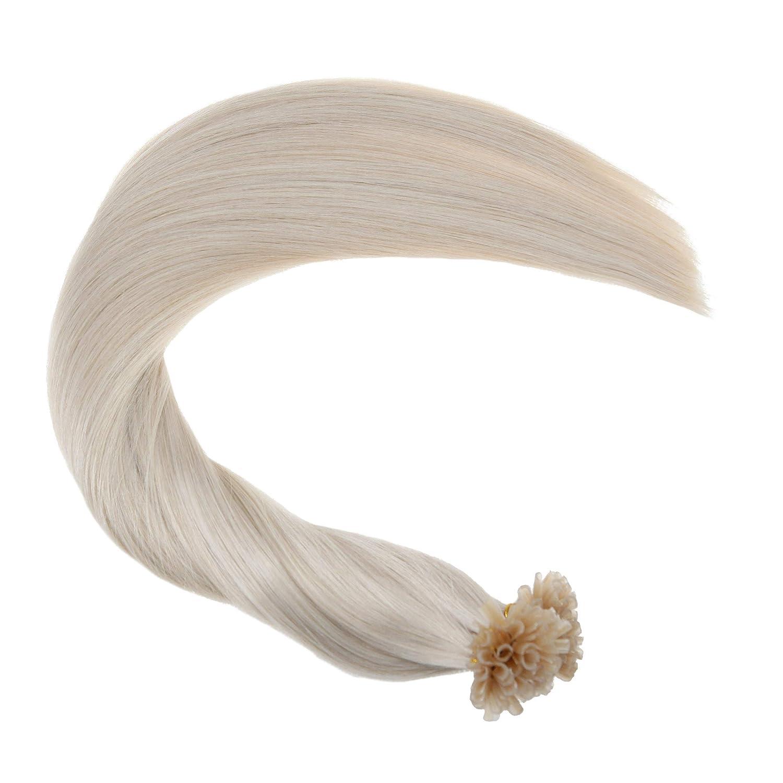 5ddfefa5307678 Ugeat 20//50cm 100/% Echte Haare Echthaar Keratin Extensions 50g 1g ...