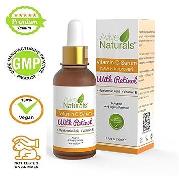 Sérum orgánico de vitamina C y retinol de eficacia médica