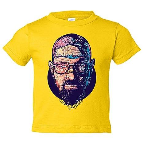 Camiseta niño Breaking Bad Walter White ilustración - Amarillo, 3-4 años