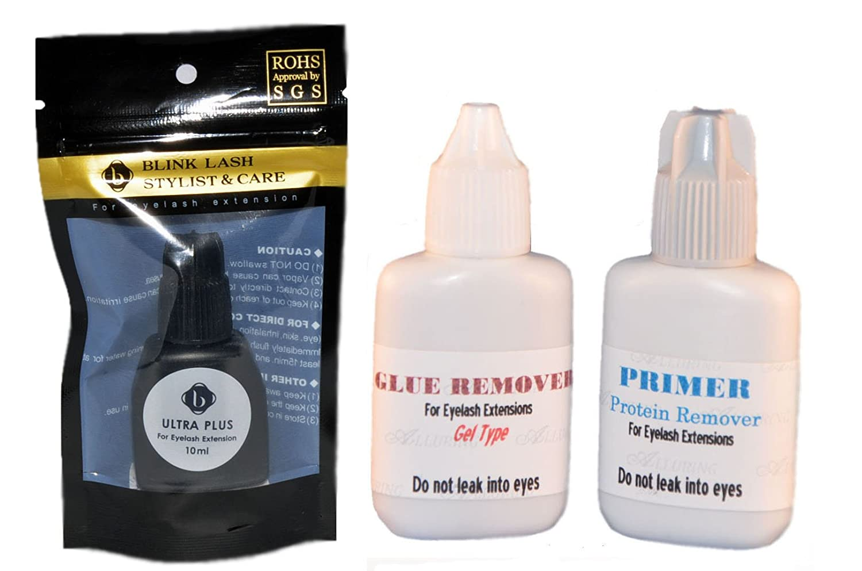 e4de093a781 Amazon.com : Alluring Advanced Tech Ultra Plus (U+) + Glue Gel Remover +  Primer Combo : Fake Eyelashes And Adhesives : Beauty