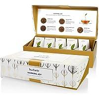 Tea Forte Warming Joy Petite Presentation Box Featuring Seasonal & Festive Tea Blends - 10 Handcrafted Pyramid Tea…