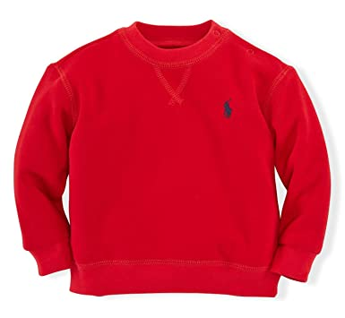 Amazon.com: Polo Ralph Lauren Baby Boys' Fleece Crewneck ...