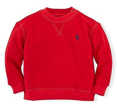 663a1a182 Amazon.com  Polo Ralph Lauren Baby Boys  Fleece Crewneck Sweatshirt ...