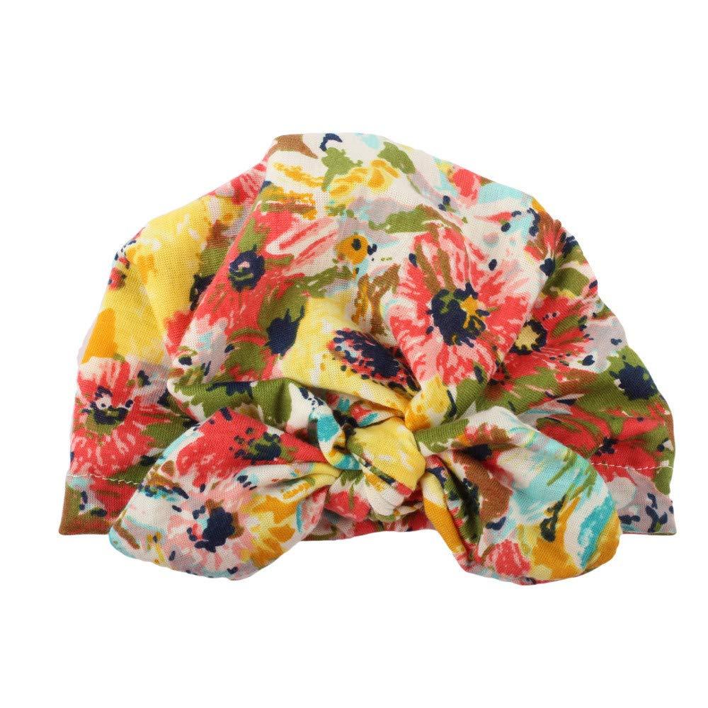 Tefamore Nouveau-né Mignon bébé bébé garçon Fille Turban Coton Bonnet Bonnet Hiver Chapeau Chaud Tefamore Pull Tops Nr.1