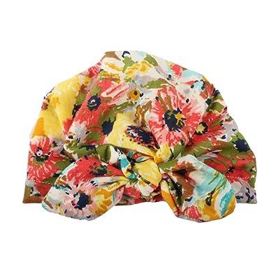 c1ad57b22400 Tefamore Nouveau-né Mignon bébé bébé garçon Fille Turban Coton Bonnet  Bonnet Hiver Chapeau Chaud