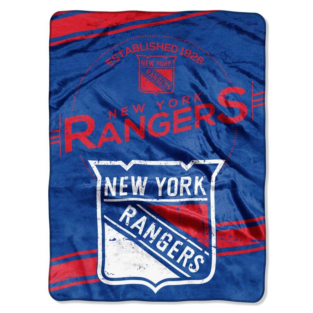 "Officially Licensed NHL ""Stamp"" Plush Raschel Throw Blanket, 60"" x 80"""