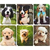 12-Pack Pocket Folders - Letter Size File Folders with 2 Pockets, 6 Adorable Dog Designs, Stay Organized at School or Home - 9.25 x 12 Inches