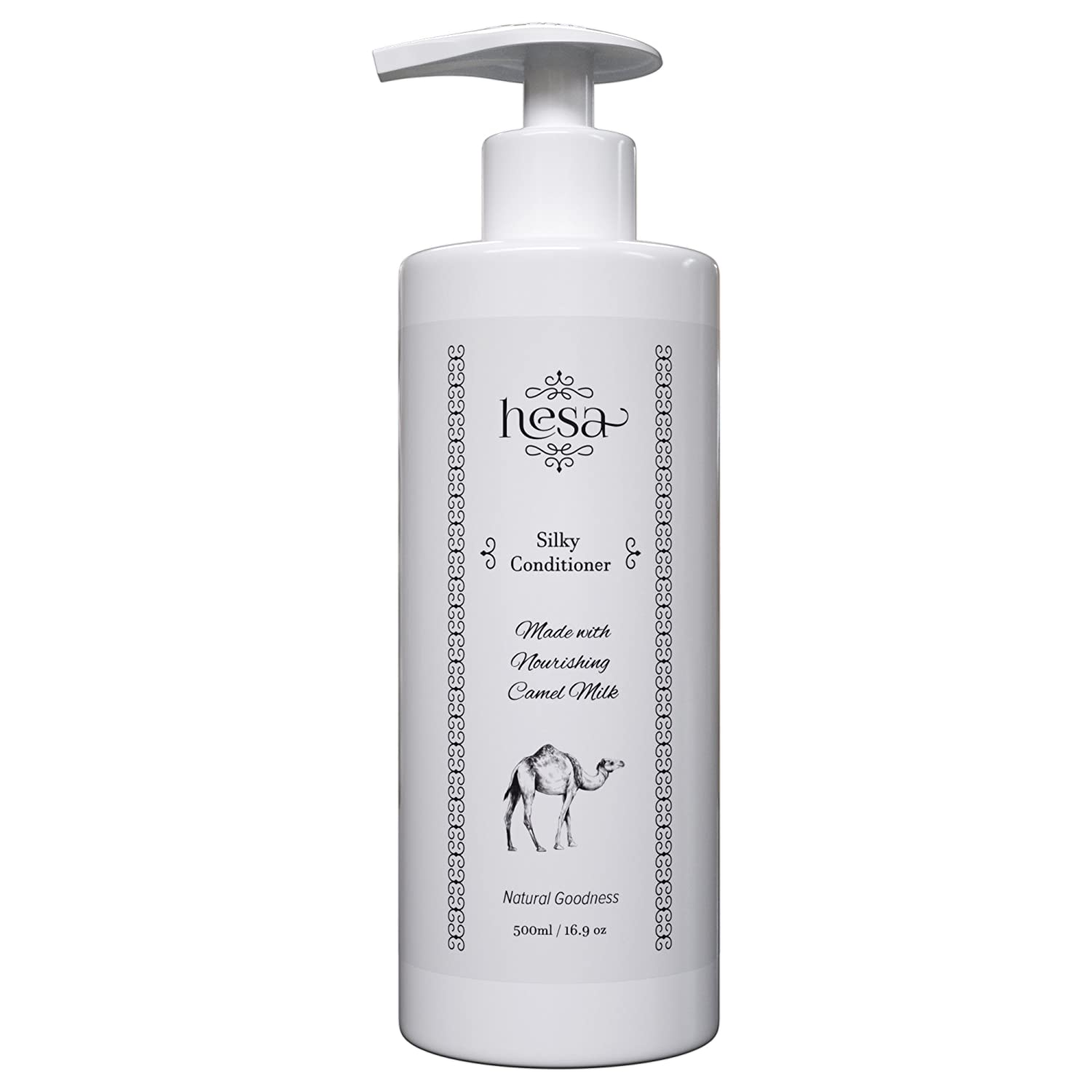 Natural Conditioner with Camel Milk & Argan Oil - Leave In Conditioner for Damaged, Colored & Dry Hair - Deep Conditioning Hair Treatment - Total Repair - Sulfate Free - Anti-Frizz. 500ml / 17.6 oz Hesa