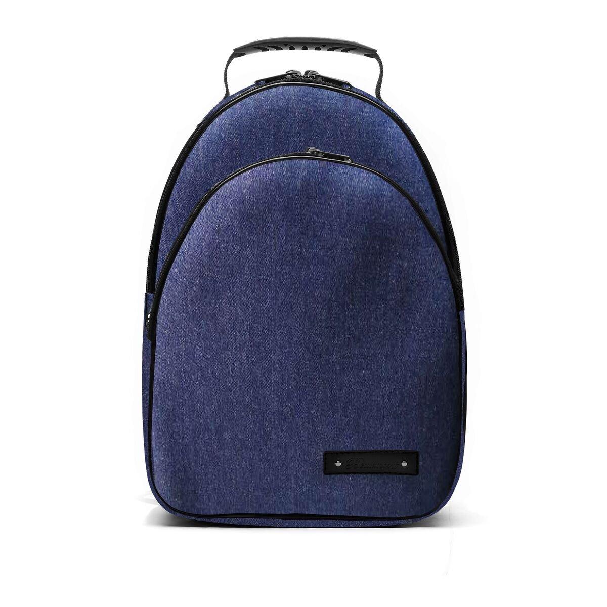 Clarinet Case Backpack - Handmade Beaumont Student Bb Clarinet Bag - Blue Denim