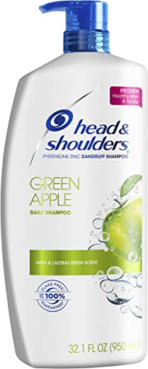 Head and Shoulders Green Apple Daily-Use Anti-Dandruff Shampoo, 32.1 fl oz
