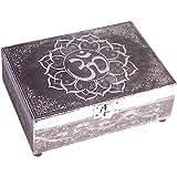 Caja de tarot de madera tallada a mano