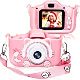 Kids Digital Camera for Girls and Boys, Kids Children Selfie Photo Video Camera Camcorder with 32 or 16GB SD Card, Gifts…