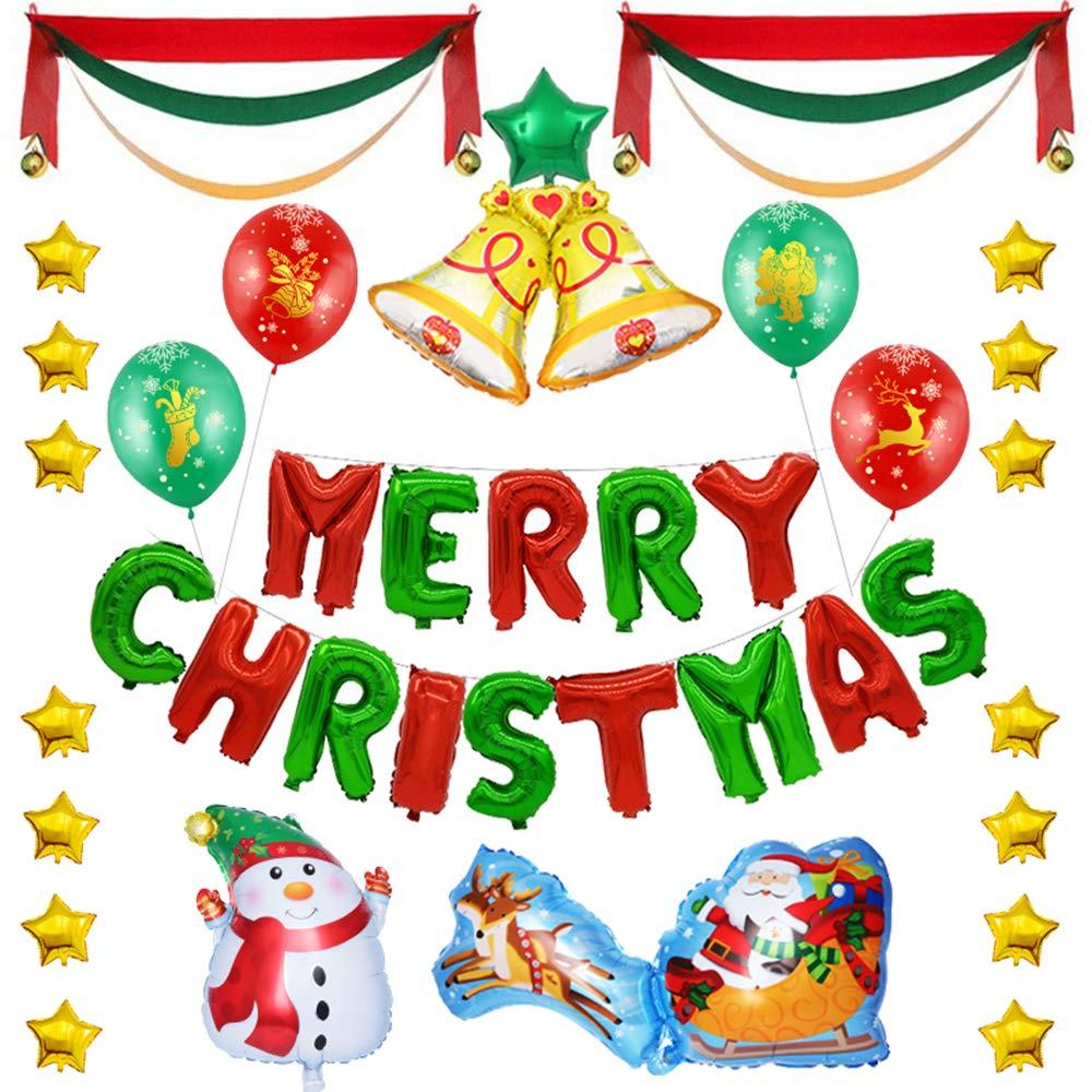 Antcher - Juego de Globos de Navidad, diseño navideño con Texto en ...