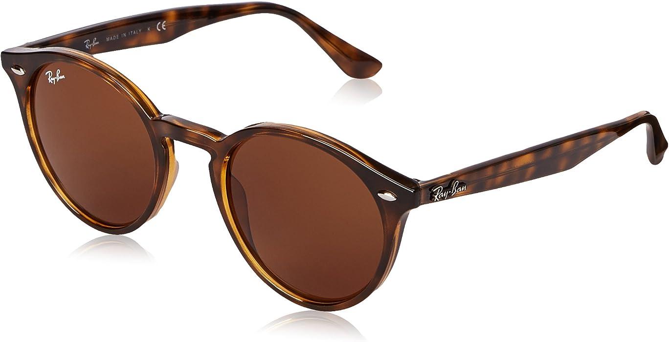 Amazon.com: Ray-Ban Injected Man Sunglasses - Dark Havana Frame Dark ...