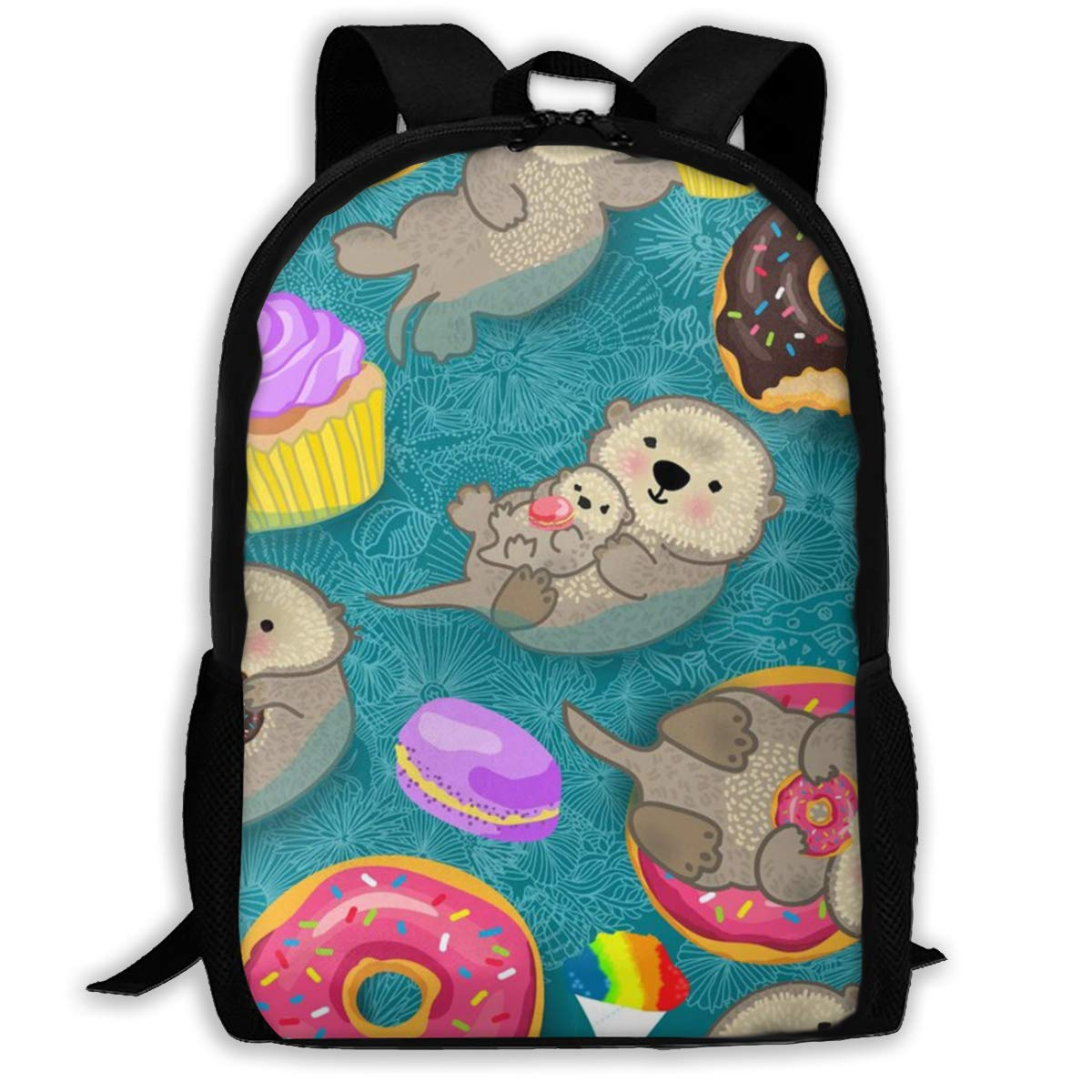 Mens Women & Teens Backpacks Funny bookbags Work daypacks Donut Cupcakes Baby Significant Otters Backpack Suitable for School,Camping,Travel,Outdoors by COLORFULSKY