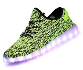 pamray LED Yeezy Zapatillas Calzado de Luminoso 7 colores unisex USB de carga Outdoor Athletics Casual