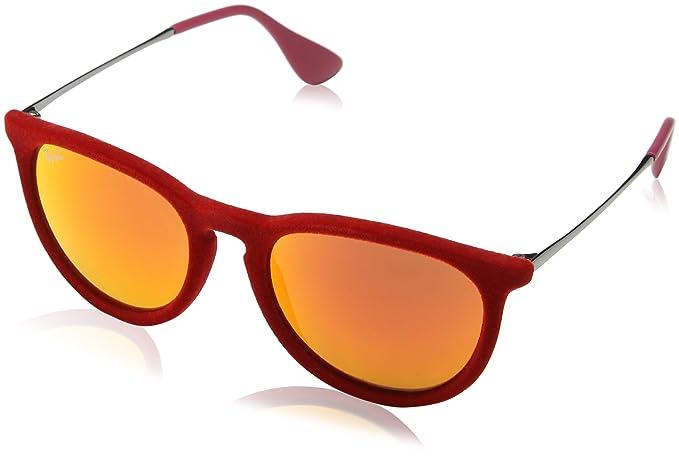 Ray-Ban - Gafas de sol para mujer, Rojo(Red Velvet (60766Q)),con lenses espejadas