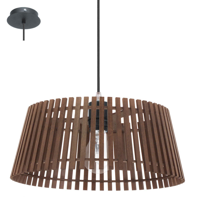 EGLO Pendelleuchte Narola, Braun/Schwarz, Holz/ Metall, 94014