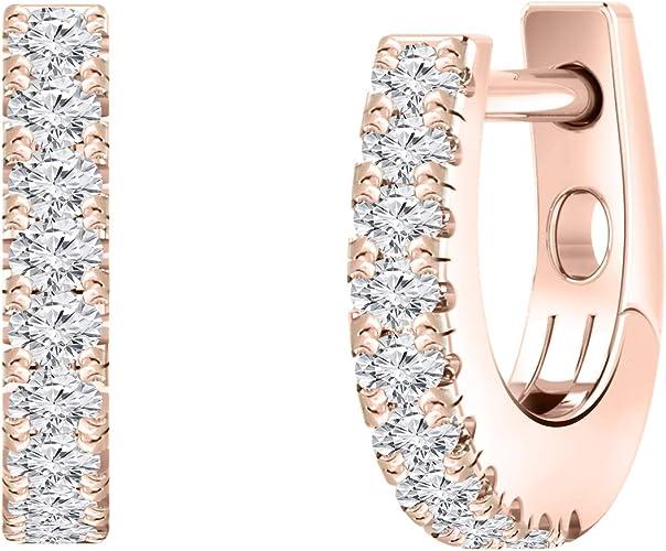 4Ct Cushion Attractive Cut Morganite Huggie Hoop Earrings 14K White Gold Finish