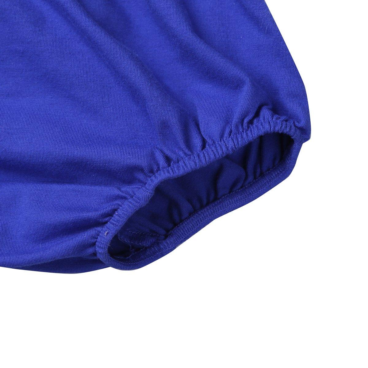 iiniim B/éb/é Gar/çon Naissance sous-v/êtements Bloomers Culotte Couvre-Couche Coton avec Cravate Accessoire de Prop Photographie Couleur Unie 12-18 Mois