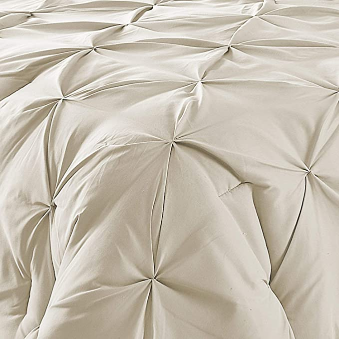 - 1200 Thread Counts 100/% Egyptian Cotton PARADISEHOUSE Luxurious- Pinch Pleated Duvet Cover 1 Piece Cal-King Size, Navy Blue Solid with Zipper Closure /& Corner Ties
