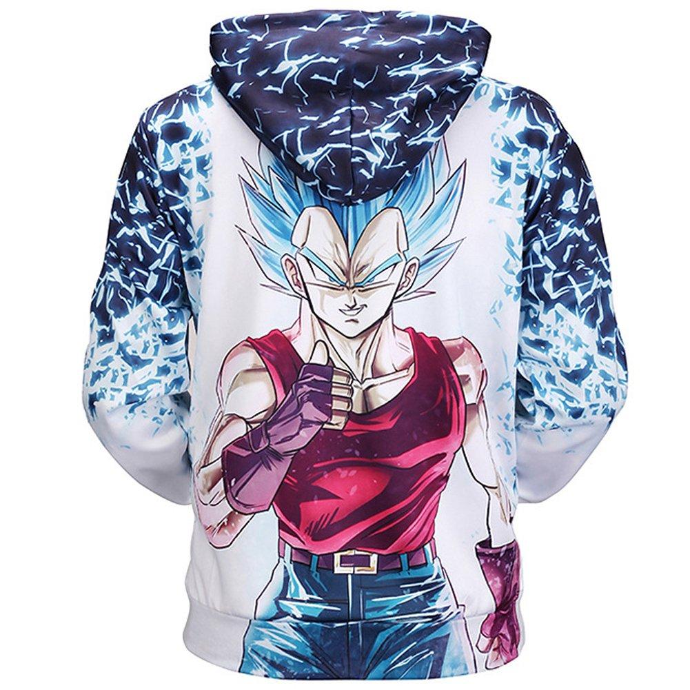 PIZZ ANNU Dragon Ball Series Hommes Manches Longues Sweat-Shirt /à Capuche