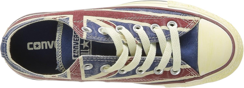 Converse Ctas Union Jack, Baskets mode mixte adulte Blanc Blanc Bleu Rouge