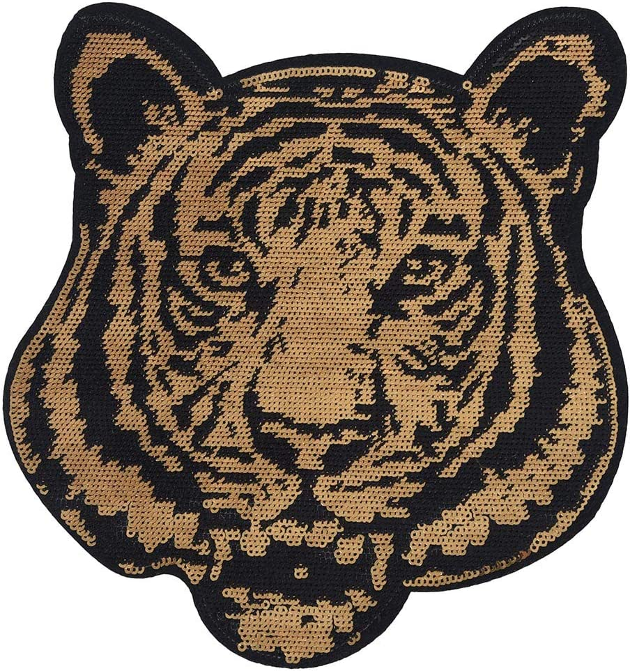 Tiger Patch Iron Sew On Clothes Bag Embroidered Badge Animal Embroidery Applique
