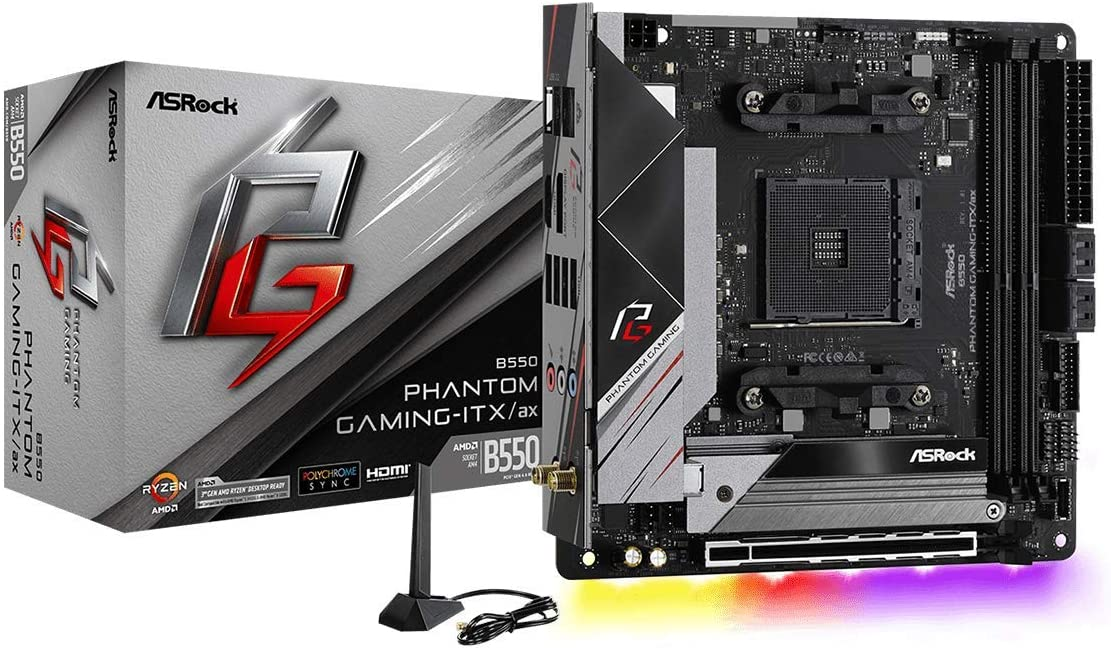 ASRock B550 Phantom Gaming-ITX/AX Supports 3rd Gen